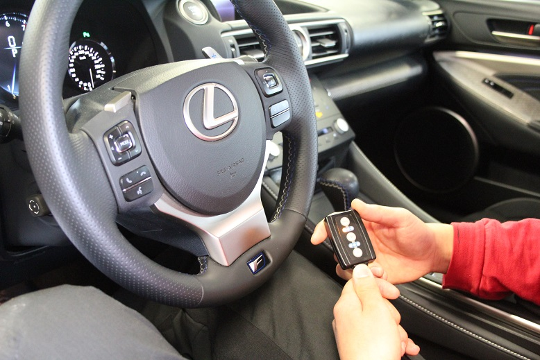 Lexus RCF accelerateur